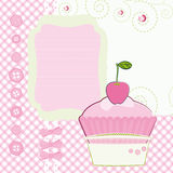 Background with cartoon Cake. Royalty Free Stock Photos