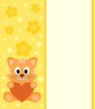 Background with cartoon cat Stock Images