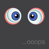 Background with cartoon eyes. Eps 10 Royalty Free Stock Photography
