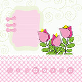 Background with cartoon flowers. Stock Photography