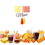 Background with cartoon food Royalty Free Stock Photo