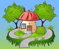 Background cartoon house Royalty Free Stock Image