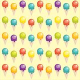Background with cartoon ice cream cups. Illustration Royalty Free Stock Image