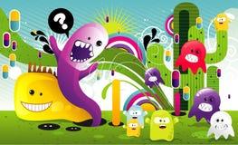 Background cartoon illustration royalty free illustration