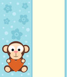 Background with cartoon monkey Stock Photography
