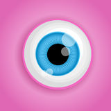 Background with cartoon monster eye in pink colors. Vector illustration for Halloween Stock Photography
