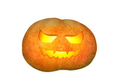 Background from carved pumpkin isolated on white Stock Image