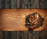 Background with carved  rose Stock Photography