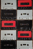 Background of cassette tape Stock Photo