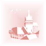 Background with castle Stock Photography