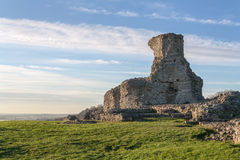 Background castle ruins UK Hadleigh in Essex Stock Photo