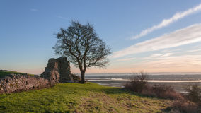 Background castle ruins UK Hadleigh in Essex Stock Images