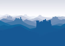 Background with castles Royalty Free Stock Photography