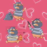 A background with cats seamless pattern Stock Photography