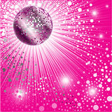 Background - CD Cover Design With Disco-ball Royalty Free Stock Image