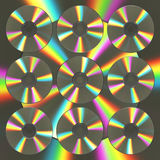 Background From CD And DVD Disks. 3D Illustration Royalty Free Stock Photos