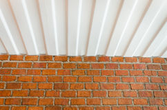 Background ceiling and brick wall Stock Image