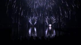 background celebration fireworks night sky Στοκ εικόνα με δικαίωμα ελεύθερης χρήσης