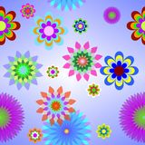 Background of a cell with colours. Without a seam Royalty Free Stock Photo