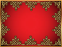 Background with Celtic ornaments of gold Stock Images