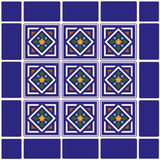 background ceramic mexican tiles Royaltyfri Fotografi
