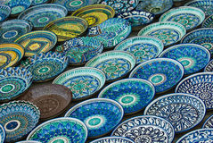 Background of ceramic plates Royalty Free Stock Image