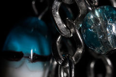 Background from the chains and balls Stock Photos