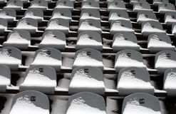 Background chairs at stadium Royalty Free Stock Photography