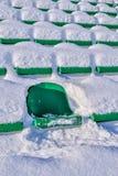 Background chairs at stadium , winter Stock Photos