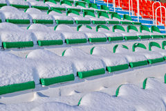 Background chairs at stadium , winter Royalty Free Stock Photography