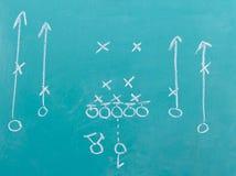 Chalkboard football play Stock Photography