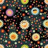 Background with chamomiles. Amusing, dark background with chamomiles Royalty Free Stock Images