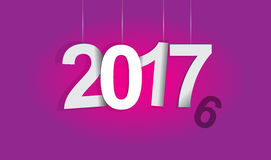 2017 background. 2016-2017 change represents the new year 2017. New year 2017 Text Design Vector Illustration