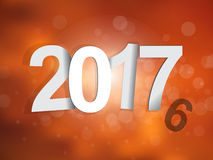 2017 background. 2016-2017 change represents the new year 2017. New year 2017 Text Design Royalty Free Illustration