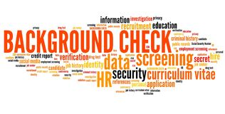 Background check stock illustration