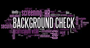 Background check Royalty Free Stock Photo