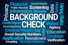 Background Check Word Cloud vector illustration