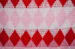 Background of checked woolen knitted pattern Stock Photos