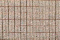 Background from checkered brown woolen fabric Royalty Free Stock Photos