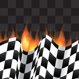 Background with checkered flag Stock Photography