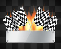 Background with checkered flags Stock Images