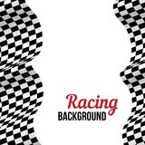 Background with checkered racing flag. Royalty Free Stock Photography