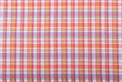 Background checkered tablecloth. Royalty Free Stock Photography