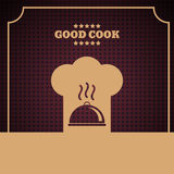 Background Chef hat sign icon Cooking symbol violet Vector eps 1 Stock Images
