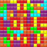 Tetris block background with i love you lettering Royalty Free Stock Photos