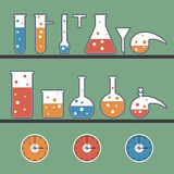 Background with chemical ware. Vector background with chemical laboratory Royalty Free Stock Photo