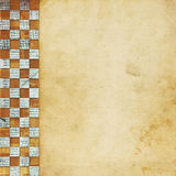 Background with chequered chess ornament. Vintage abstract background with chequered chess ornament Stock Image