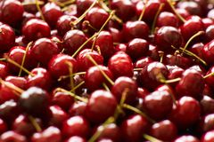Background of cherries Royalty Free Stock Images