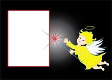 Background with cherub Stock Photo