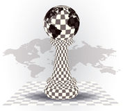 Background with a  chess pawn Royalty Free Stock Images